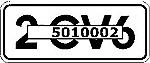 2 CV6 Aufkleber