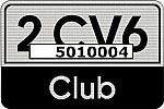 2 CV6 Club Aufkleber