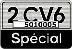 2 CV6 Spécial Aufkleber