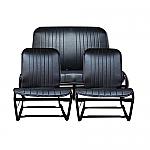 Sitzbezug Set Schwarz symmetrisch