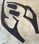 Seitenverkleidung Filz schwarz