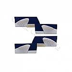 Türverkleidung Blau  4-Teilig
