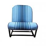 Sitz komplett vorne links (Bleu Rayé)