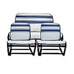 Sitzbezüge blau/weiß gestreift (France 3) symmetrisch