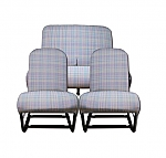 Sitzbezüge blau Kritzel (Gris Ecossais) symmetrisch