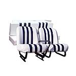 Kit Sitze weiß/blau Mehari