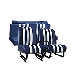 Kit Sitze blau/weiß Mehari