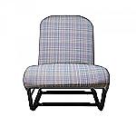 Sitzbezug vorne links und rechts blau Kritzel (Gris Ecossais) symmetrisch