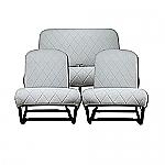 Sitzbezüge grau (Charleston) symmetrisch