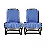 Satz Sitzauflagen alt (blau)