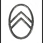Emblem Citroen Oval Alu