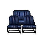 Sitzbezüge Skai Blau (symmetrisch)