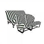 Sitzbezüge Grün/Weiß gestreift (symmetrisch)