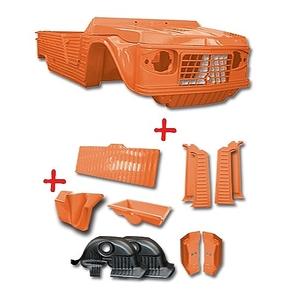 Karosserie orange altes Modell Mehari